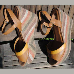 SO Shoes - SO Wedge Strappy Open-Toe Sandals Sz 8 M